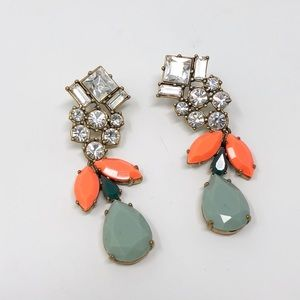 J. Crew | Crystal Statement Earrings Dangle Posts